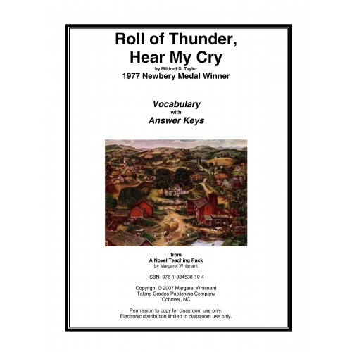 an analysis of roll of thunder hear my cry through chapter 5 The thesis statement of this assignment is on whether the author had been able to achieve her purpose through in the novel roll of thunder, hear my cry by.